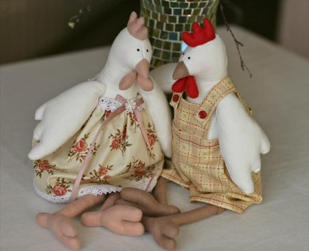Кукла петух тильда
